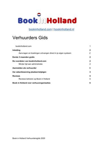 Verhuurdersgids Book in Holland